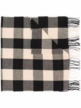 Woolrich длинный шарф в клетку WWAC0085FRUT1362
