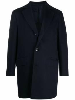 Kiton однобортное пальто строгого кроя UGO411K0114