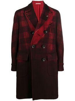 Gabriele Pasini двубортное пальто в клетку G1633351GP16511