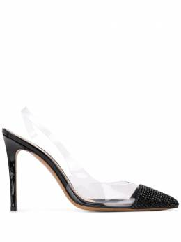 Alexandre Vauthier clear panel pointed pumps AMBERGHOSTCR