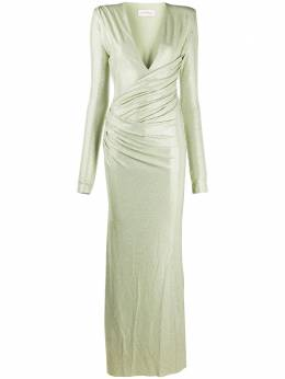Alexandre Vauthier ruched long-sleeved maxi dress 203DR1340B1029B