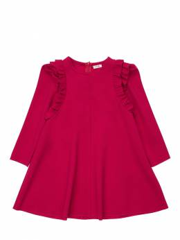 Ruffled Milano Jersey Dress Il Gufo 72I8Z9144-Mzgy0