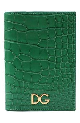 Обложка для паспорта из кожи аллигатора Dolce&Gabbana BI2215/B2DG9/AMIS