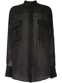 Karen Walker полупрозрачная рубашка 2660