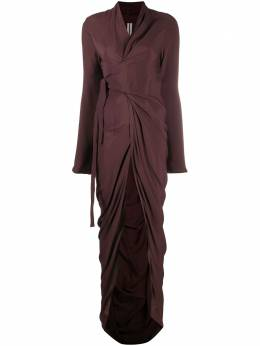 Rick Owens draped wrap dress RP20F2562CC