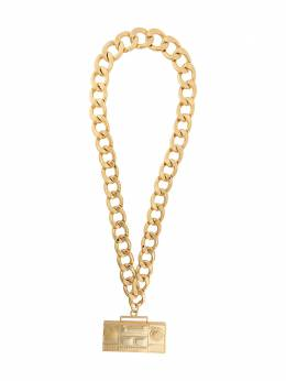 Moschino stereo pendant chunky chain necklace A91108403