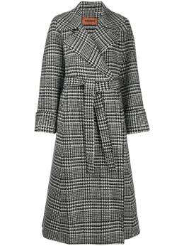 Missoni houndstooth check belted coat MDA00098BW00AE