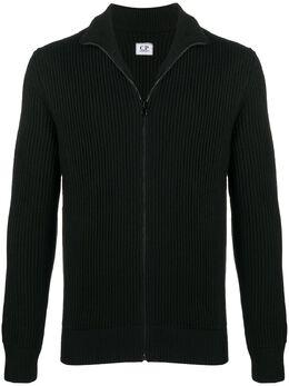 C.P. Company zipped rib-knit cardigan 09CMKN220A005292A