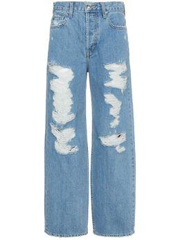 Jonathan Simkhai широкие состаренные джинсы U4025D