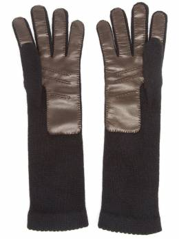 Inverni knitted leather gloves 198
