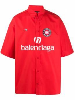 Balenciaga рубашка с короткими рукавами и принтом Soccer 642290TYB18