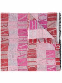 Emporio Armani all-over logo scarf 6352130A326
