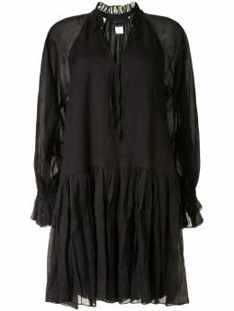 Karen Walker ярусное платье мини Willow 42196