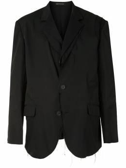 Yohji Yamamoto однобортный пиджак с необработанными краями HRJ10802