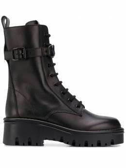 Valentino Garavani ботинки на шнуровке в стиле милитари UW0S0AQ8TDD