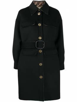 Fendi belted single-breasted coat FF8744A5HD