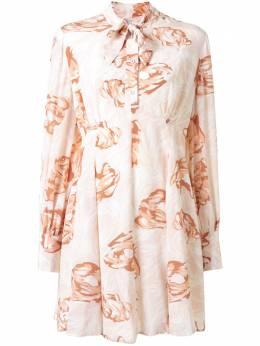 Karen Walker платье Gardenesque с цветочным принтом 42175