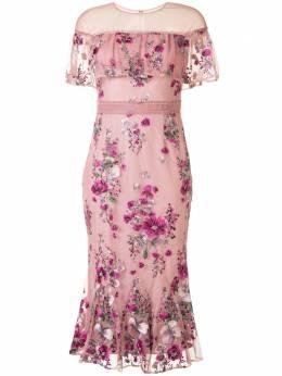 Marchesa Notte платье с цветочным принтом N41C2122