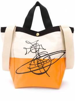 Vivienne Westwood two-tone logo print tote bag 4201004511415ET