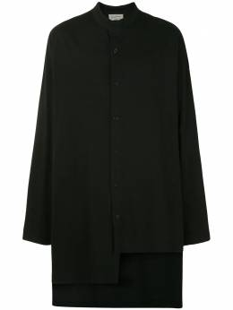 Yohji Yamamoto длинная рубашка Quiet Please HRT26076