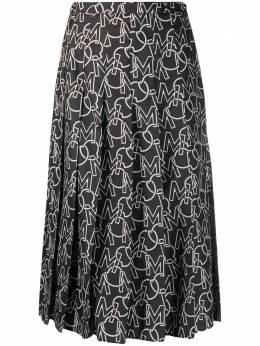 Moncler плиссированная юбка с логотипом F20932D7120054AQP