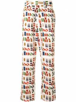 Homme Plisse Issey Miyake брюки с монограммой HP09FF030
