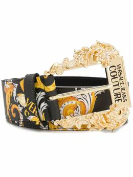 Versace Jeans Couture baroque-print buckle belt D8VZAF0271579