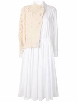Yohji Yamamoto многослойное платье-рубашка FBD53806