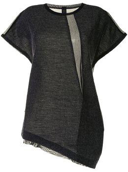 Y's футболка асимметричного кроя с драпировкой YBT06672