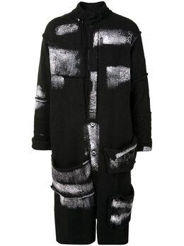 Yohji Yamamoto paint-detail long cardigan HRK87188