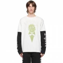 Vyner Articles Off-White Layered Skater Long Sleeve T-Shirt 0A229021