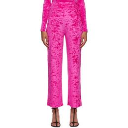 Marine Serre Pink Velvet Yoga Pants P005FW20W