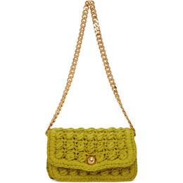 Bottega Veneta Green Crochet Shoulder Bag 640720 V06Z0