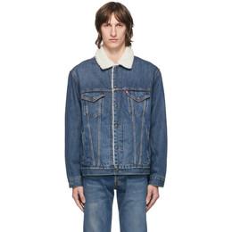 Levi's Blue Denim and Sherpa Vintage Fit Trucker Jacket 79129-0004