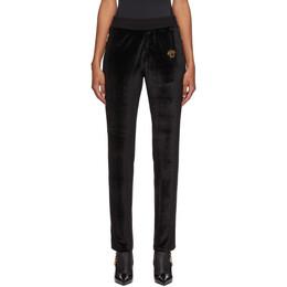 Versace Black Velour Medusa Lounge Pants A87480 A234467