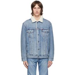 Levi's Blue Denim and Sherpa Vintage Fit Trucker Jacket 79129-0001