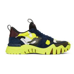 Valentino Black and Green Valentino Garavani Rockrunner Plus Sneakers UY2S0C88NPG