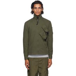 C.P. Company Green Gabardine Lens Shirt 09CMSH141A-002824G