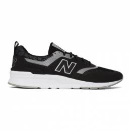 New Balance Black and Silver 997H Sneakers CM997HFI