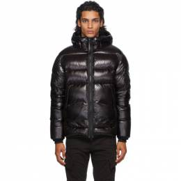 C.P. Company Black Down Hooded Jacket 09CMOW068A-005791A