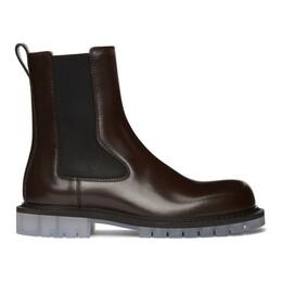 Bottega Veneta Brown Calfskin Chelsea Boots 632510 VBS30