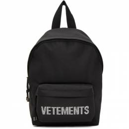 Vetements Black Small Strass Backpack UAH21BA255