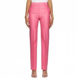 Victoria, Victoria Beckham Pink Wool Drainpipe Trousers 2320WTR001685B