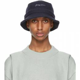 Jacquemus Navy Wool Le Bob Bucket Hat 206AC03-206 512380