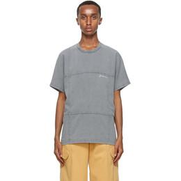 Jacquemus Grey Le T-Shirt Carro T-Shirt 206JS18-206 22497A