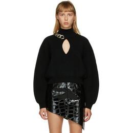 Alexander Wang Black Chain-Link Keyhole Sweater 1KC2201007