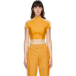 Adidas Originals Yellow Paolina Russo Edition Crop T-Shirt GF0261