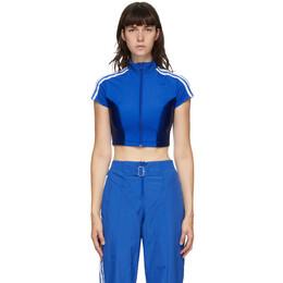 Adidas Originals Blue Paolina Russo Edition Crop T-Shirt GF0260