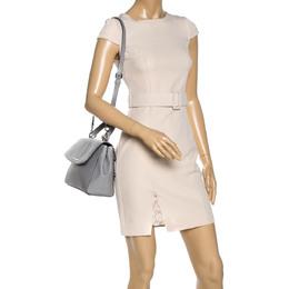 Michael Kors Grey Leather Medium Ava Top Handle Bag 327735