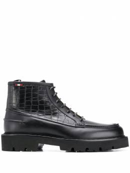 Bally ботинки с тиснением под кожу крокодила 6234376